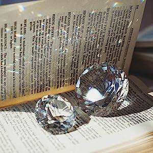 black crystal diamond fengshui paperweight