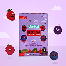 Healthy Nutrition Bar for 4 year old Kid, Energy and Snacking Bar, Strawberry, Blueberry, Cranberry