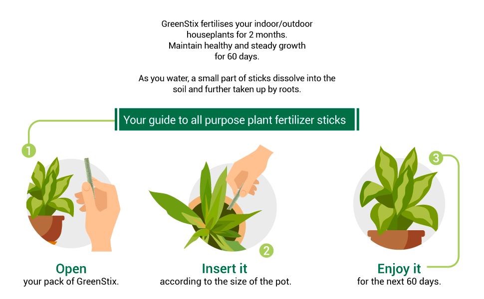 Slow-release fertiliser, plant food for all plants, food sticks by lazygardener