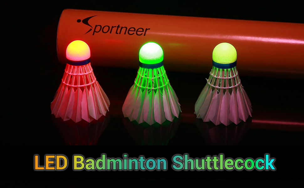 led badminton shuttlecock