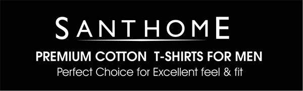 Santhome Cotton Round Crew Neck Tshirt 180 gsm