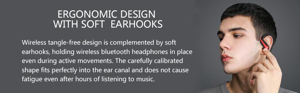 wireless ear-hook earphones