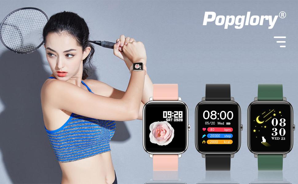 Smart Watch, Reloj Inteligente con Oxígeno Sanguíneo Frecuencia Cardíaca, para Android iOS