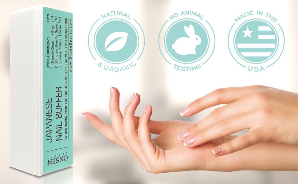 Unique Japanese Nail Buffer Block File Smooth Shine Polisher Care Mini Manicure Set