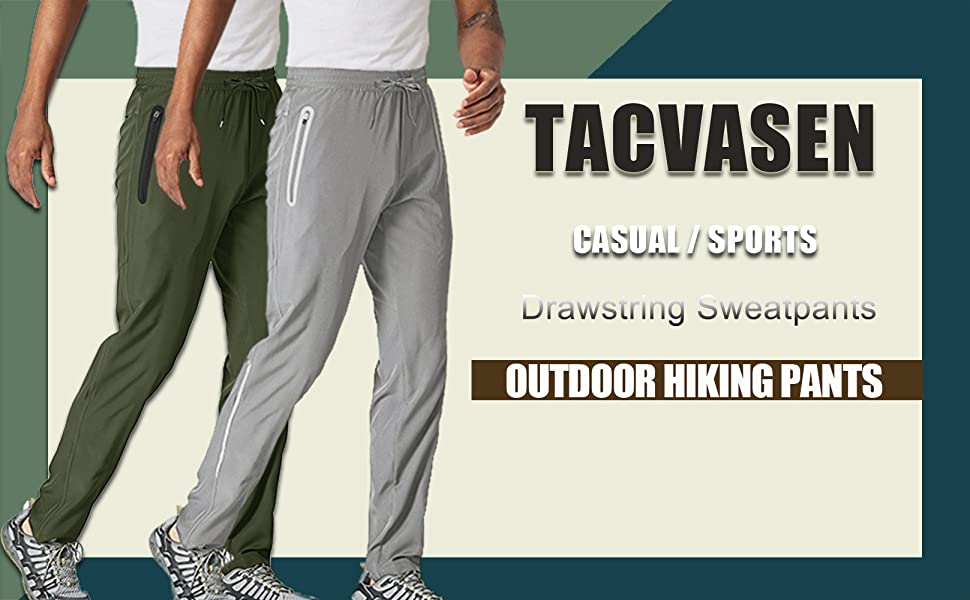 Men's Athletic Running hiking climbing Jogging Pants Sports pants Quick Dry Sweatpants with Pockets