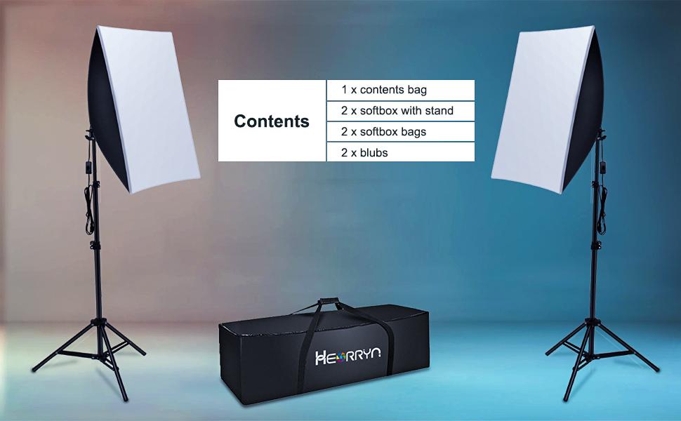 Heorryn softbox lighting kit