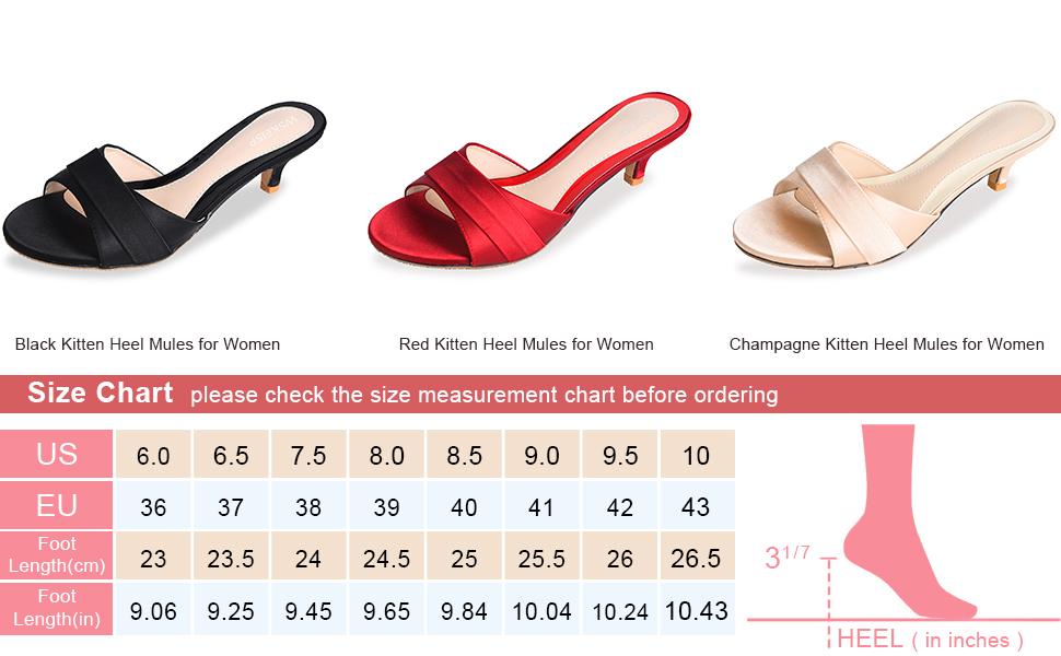 Open Toe Low Kitten Heel Mules Slide Sandals,Simple Slip On Open Back Slip Resistant Slippers