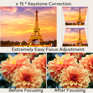 Keystone Correction & Focus