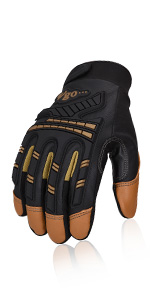Vgo Goatskin Leather Heavy Duty Mechanic Work Gloves