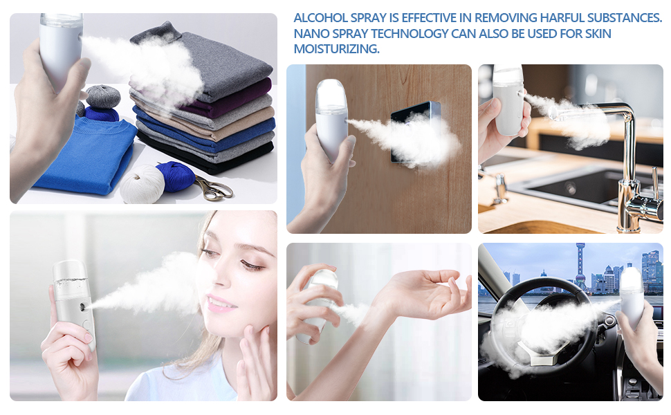Hand-Held Electric Fine Mist Spray Bottles