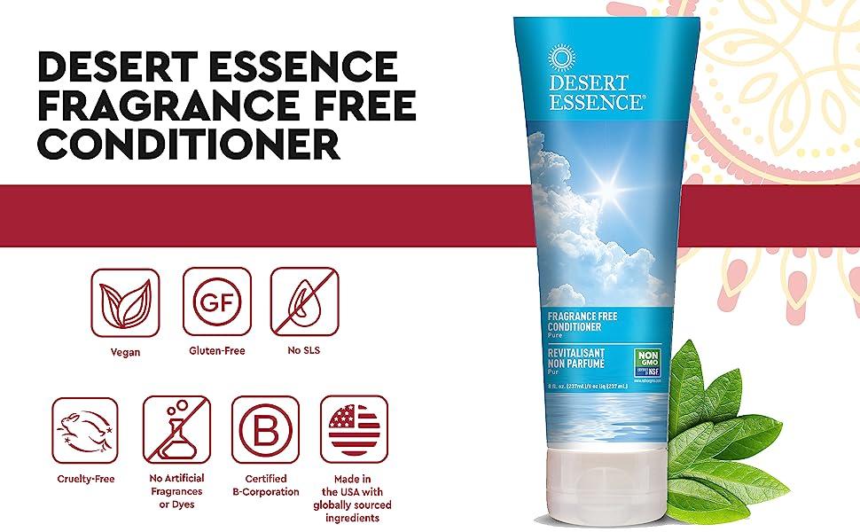 Desert Essence Fragrance Free Conditioner,No Fragrance Conditioner,No Scent Conditioner,