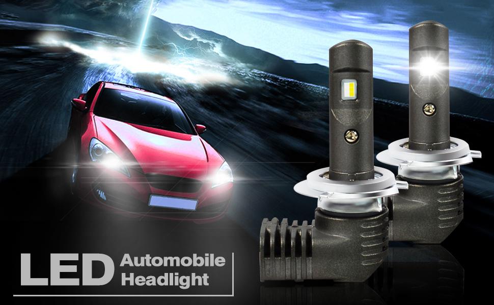 h7 LED headlight bulbs