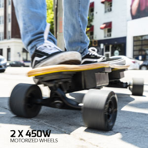 extra-large, extra-wide 90x52mm wheels offer