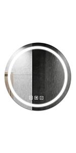"""24"""" round led mirrors"""