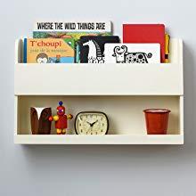 Tidy Books ® Estante para cama litera original Bunk Bed Buddy™,Estanterias flotantes blancas de madera como mesilla auxiliar de noche, Ideal para ...