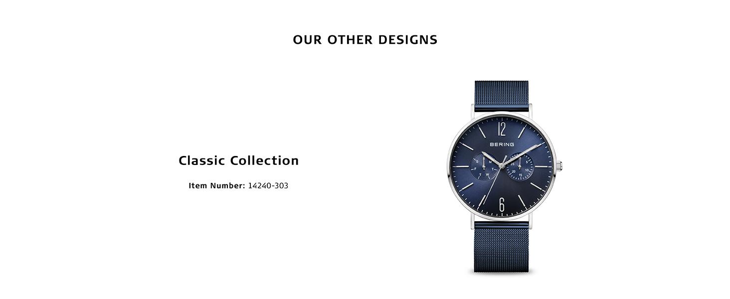 Bering watch watch sapphire crystal watch slim Behring Skagen Titanium stainless steel quartz