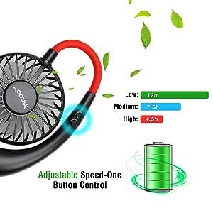 rechargeable neck fan