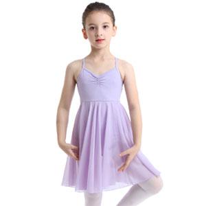 FEESHOW Kids Girls Empire Waist Gymnastics Camisole Leotard Ballet Lyrical Dance Dress Ballerina Costumes