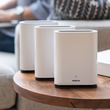1-Pack Nokia WiFi Beacon 1 Single high Performance Whole Home WiFi mesh System; Replaces Your existing Router; Supports AC1200 throughput and resolves WiFi Interference Issues