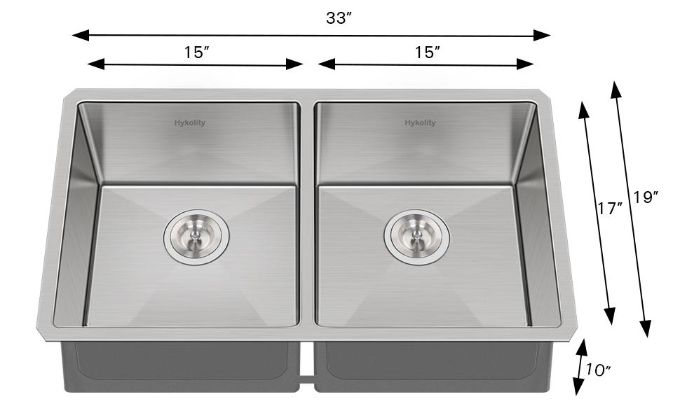 33x22 inch Double Sink Kitchen Sink