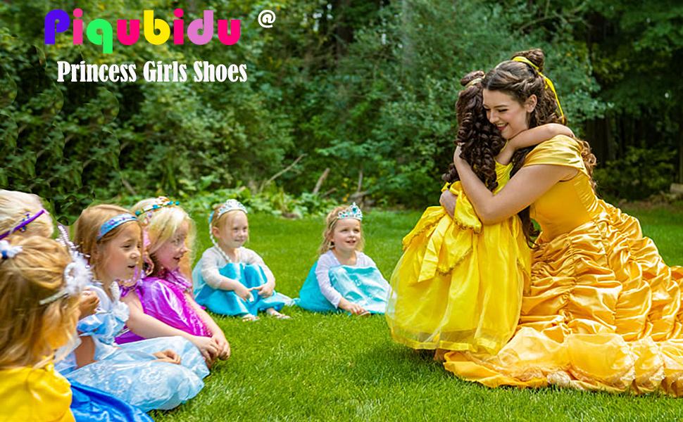 Piqubidu Girls Jelly Flats Glitter