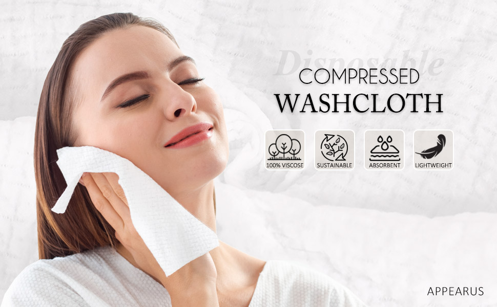 10X//Pack Travel Portable Compression Disposable Wash Towel Beauty Cleansing QL