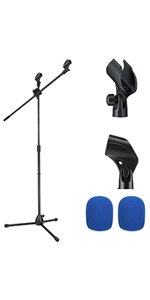 Moukey MMs-3 Tripod Boom Microphone Stands