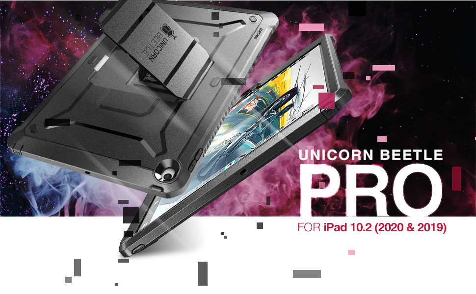 SUPCASE Unicorn Beetle Pro Case Built-in Screen Protector for iPad 10.2 2020 2019 8th Generation