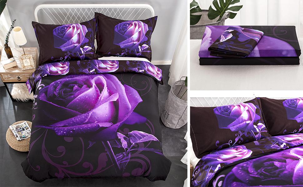 Purple Duvet Cover Set