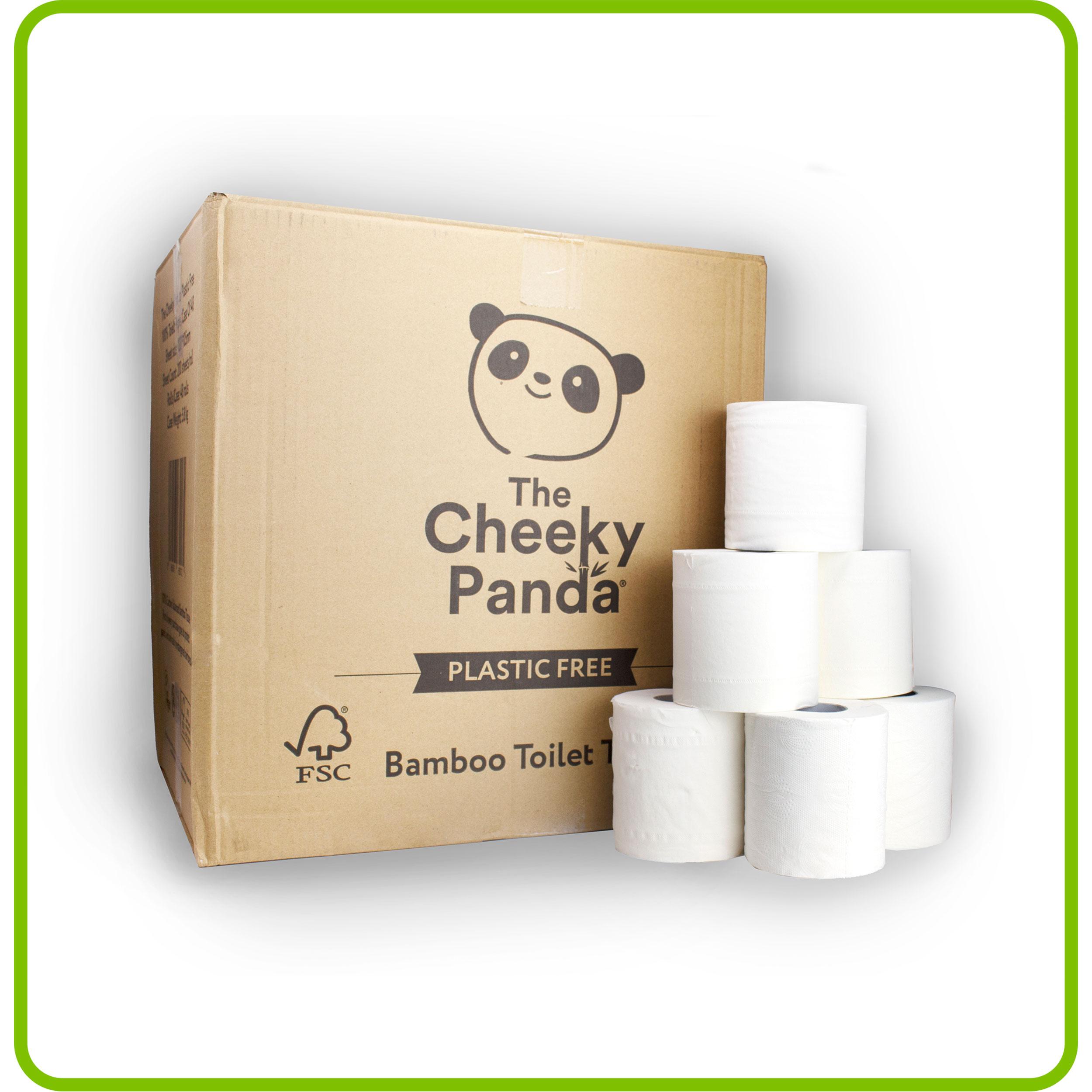 The Cheeky Panda Bo/îte de 5 Paquets Essuie-tout en Bambou 2 /Épaisseurs Biod/égradable Multiusage sans Plastique /Écologique Absorbant R/ésistant///Écoresponsable 10 Pi/èces 1 Unit/é