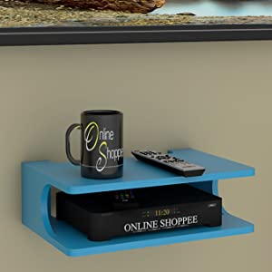 wooden set top box stand
