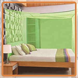 B08NVT3VMY_Pixum King Size Traditional Poly Cotton Mosquito Net (7 X 7 Feet, Ivory)- SPN-FOR 1