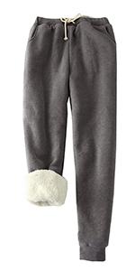 Fleece lined pants