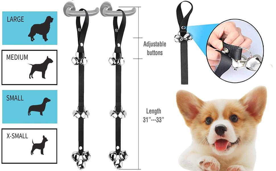 Adjustable Nylon 1PCS MEKEET Potty Doorbells for Dog Training Iron Bells