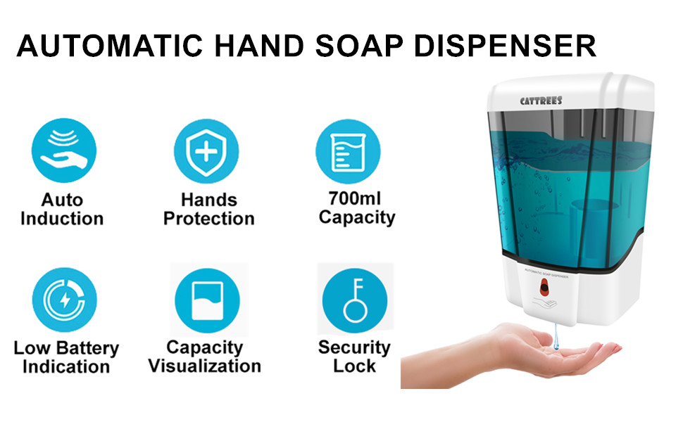 Automatic Hand Sanitizer Dispenser Touchless Automatic Soap Dispenser Wall Mount
