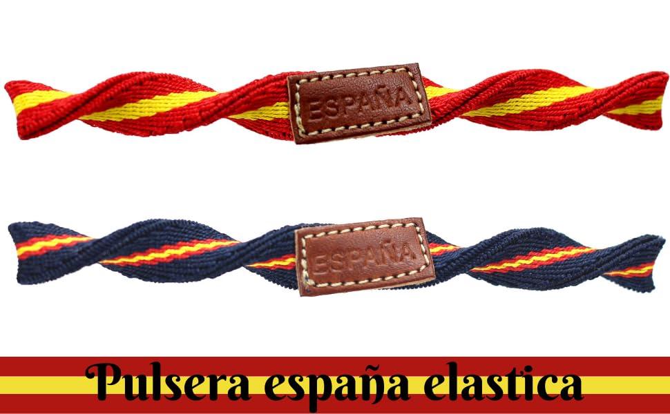 HAND-PRO Pulsera españa Hombre Pulsera españa Cuero Pulsera ...