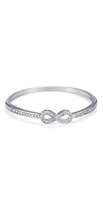 Cubic Zirconia Infinity Symbol Bracelet