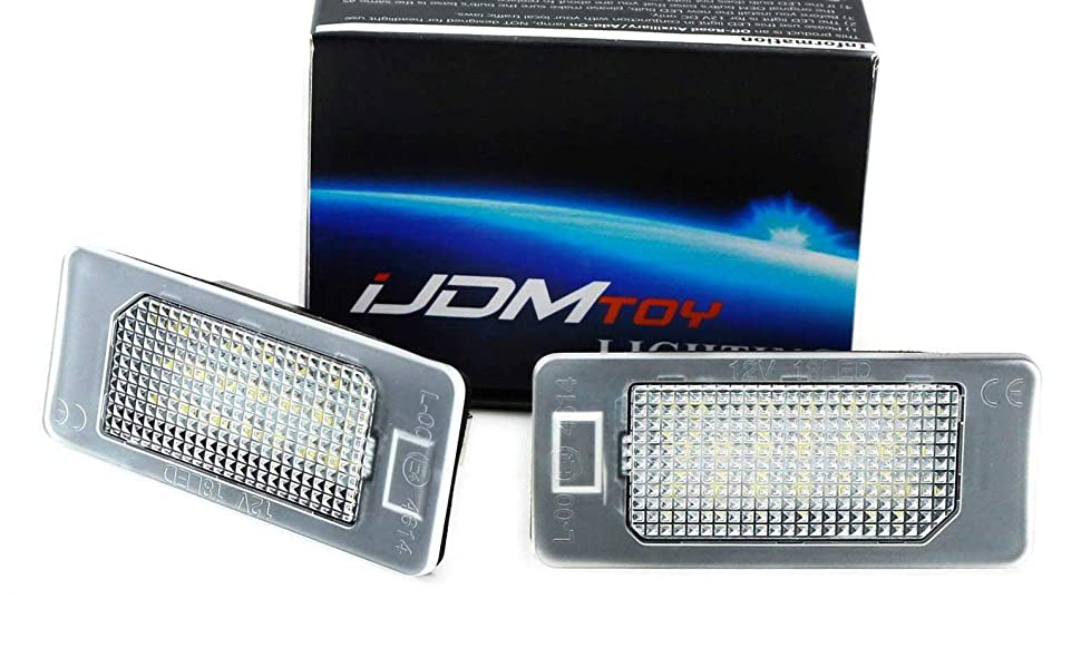 Universal Motorcycle License Plate LED Light For US CA PT JP Licence Plate