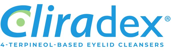 cliradex eyelid cleansers with 4-terpineol
