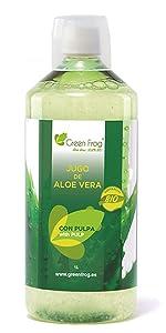 Green Frog Jugo de Aloe Vera Con Granada BIO 1 Litro: Amazon.es ...