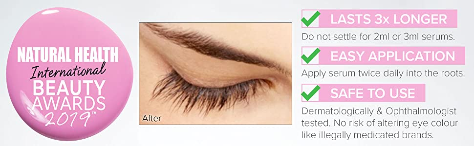 Safe Eyelash Rapid Growth Serum for Lashes and Brows