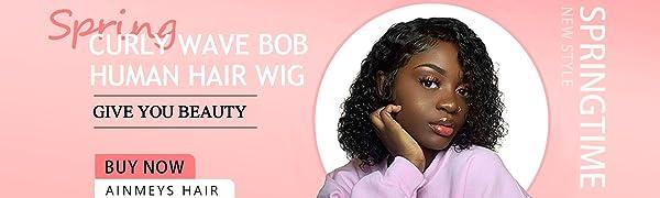 curly bob wig