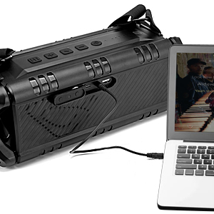 The 3.5mm audio jack allows you to connect this speaker with your laptop, MP3 palyer, TV etc.