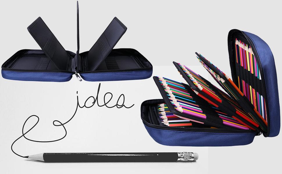 colored gel pen case