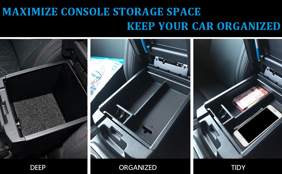 Maximize console storage space & Make everything organized