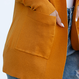 mustard cardigan for women
