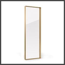 Seamless Metal Frame Gold, Recessed Upland Oaks Full Length Mirror for Floor /& Wall in Bedroom Big /& Tall Large Full Body Mirror Leaner Mirror Size 65 x 21