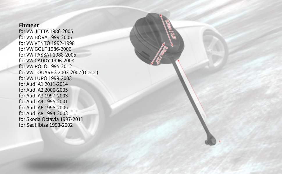 Kimiss Tankdeckel Kunststoff Benzin Diesel Heizöl Tankdeckeldeckel Dieseldeckel Für A4 A6 A8 1j0201550a Auto