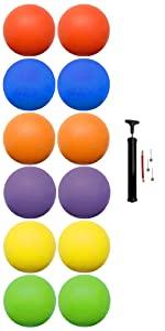 Biggz, kickball's, 12 pack, ball pump