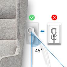 flat plug extension cord